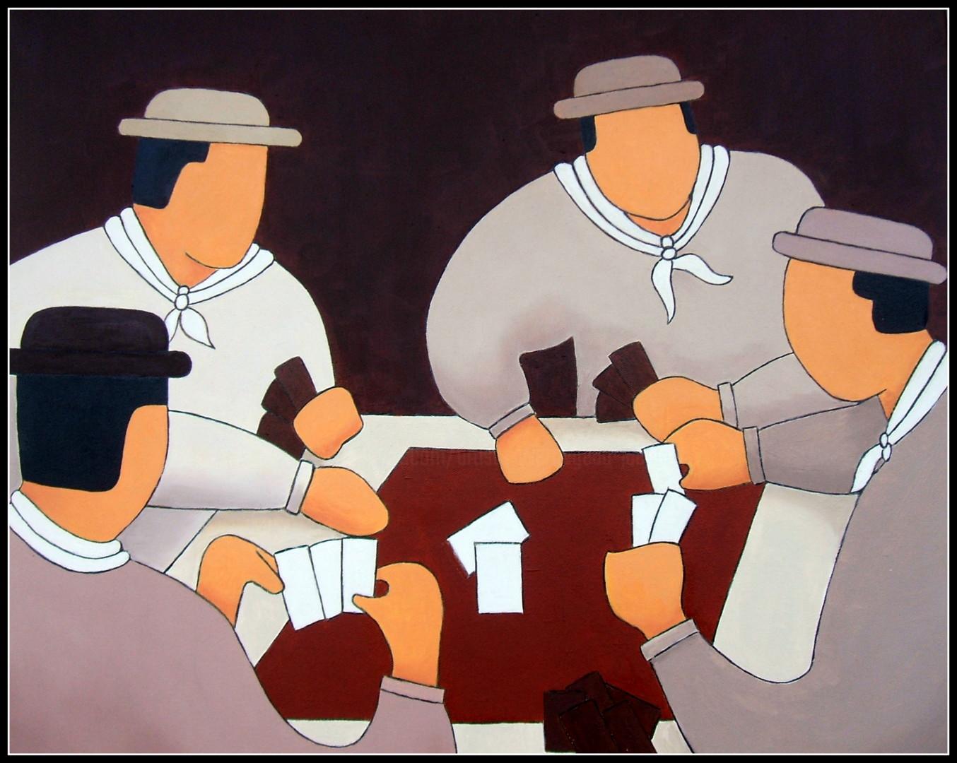 Jacques Yvernogeau - La partie de cartes