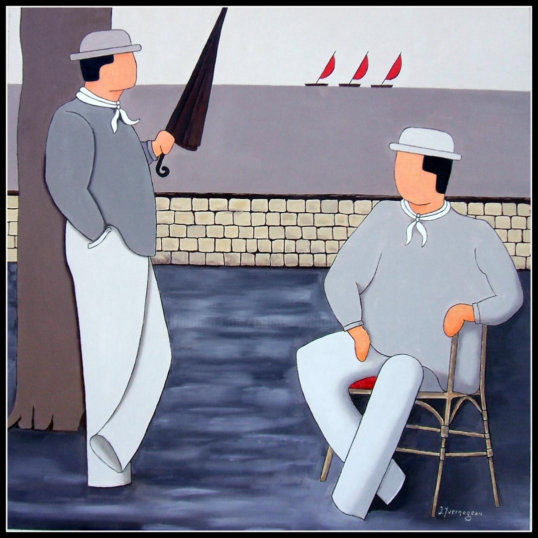 Jacques Yvernogeau - Discussion sur la terrasse